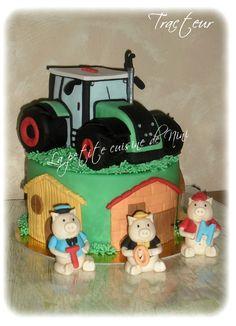 """Très joli gâteau """"Tracteur"""" ! """"Mamathismaelys"""" vous offre sa recette et son tuto !!!"""