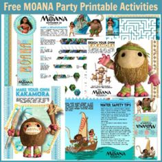 Free Moana Party Printable Activities – Free Party Printables