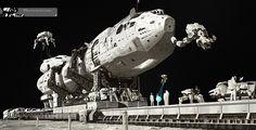 Sci-Fi Spacecraft Derelict Art - Pics about space