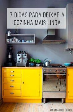 Dicas dos melhores blogs de casa e decoração para deixar sua cozinha mais linda e funcional! // Ideias para de organização e decoração para a sua cozinha! // palavras-chave: faça você mesma, DIY, passo a passo, inspiração, ideia, tutorial, decoração, design de interiores, cozinha, organização, limpeza, natural, sustentável, blogs, panela, qual panela usar,