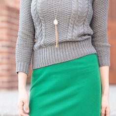 Brighten up a grey day with a pop of vibrant green. #ootd #stitchfix