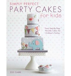 A stunning collection of 12 easy-to-achieve cake designs for kids, by internationally renowned cake decorator Zoe Clark. Making beautiful novelty cakes for children is not only possible but simple if you follow these clear step-by-step tutorials from one of the best sugarcraft teachers in the world.