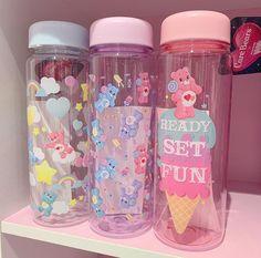 October 28 2019 at Kawaii Bedroom, Cute Water Bottles, Baby Bottles, Mode Kawaii, Kawaii Accessories, Care Bears, Indie Kids, Cute Food, Pink Aesthetic
