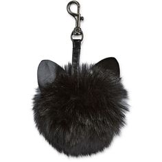 Cat Ear Key Chain ($9) ❤ liked on Polyvore featuring accessories, extra, black, fillers, jewelry and fob key chain