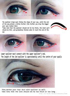Eye's make up tutorial Part 2 by YukiChristy.deviantart.com on @DeviantArt