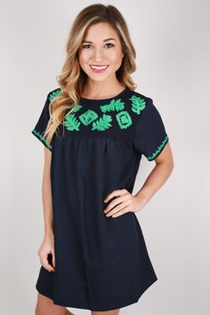 Sweet & Southern Shift Dress Navy | Impressions Online Women's Clothing Boutique