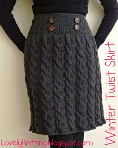 Knitted Winter Twist Skirt