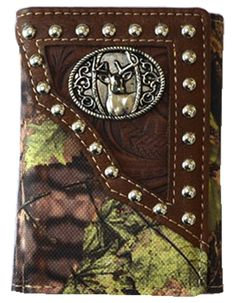 Deer Camo Mens Wallet Western Trifold W013-38 Camo Brown ** Read more  at the image link. (This is an Amazon Affiliate link and I receive a commission for the sales)