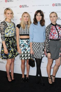 Alexa Chung And Diane Kruger Party In Peter Pilotto X Target Prints | Marie Claire