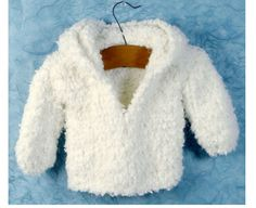 1 of 1: Knitting Pattern-Baby Very easy knit hooded Jacket in nice thick wool