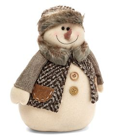 Another great find on #zulily! 11'' Jacket Snowman Holiday Plush #zulilyfinds