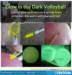 Glow in the Dark Volleyball. Nice for night time volleyball game Glow Paint, 16th Birthday, Birthday Sash, Volleyball Birthday Party, Summer Birthday, Birthday Ideas, Neon Party, Glow Sticks, Glow Stick Party