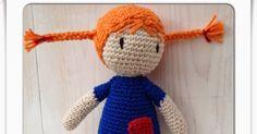 Virkbeskrivning till Pippi Långstrump hos Galna i Garn >> Amigurumi Doll, Teamwork, Diy And Crafts, Crochet Hats, Projects, Pattern, Inspiration, Knit Patterns, Threading