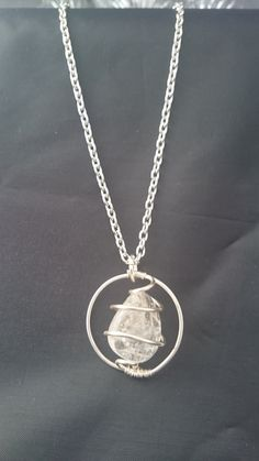 Quartz pendant, wire wrapped pendant, pendant on chain - pinned by pin4etsy.com
