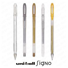 From 7.99 Uni-ball Signo Um-120 - Sparkling Glitter Metallic And Pastel Gel Ink Rollerball Pens - Set Of 5 Assorted Colours
