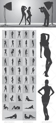 Girl Silhouettes Nice and High Detail Silhouettes. in this items onsists of : Ai ( open with adobe illustrator ) EPS ( open with adobe illustrator or applications that supports eps file ) PNG ( open with adobe photoshop ) SVG ( open with ink Picture Poses, Photo Poses, Picture Ideas, Photography 101, Portrait Photography, Boudoir Photography Poses, Silhouette Photography, Modeling Fotografie, Fotografia Tutorial