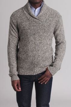 Civil Society Pharoah Pullover Sweater w/ Shawl Collar