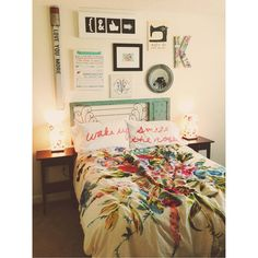 Definitely giving me good ideas for my apartment bedroom for when me and Chase get married! Maybe pictures of us with things that remind us of our adventures and a W for Winstead.