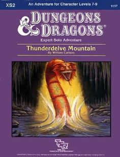 Swords & Stitchery - Old Time Sewing & Table Top Rpg Blog: Retro Review For Module Xs2 Thunderdelve Mountain By William Carlson For Dungeons & Dragons Expert Sets & Your Old School Campaigns