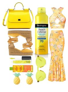 """Untitled #251"" by gemmasummers on Polyvore featuring Castañer, Dolce&Gabbana, Neutrogena, MAC Cosmetics, Alba Botanica and RumbaTime"