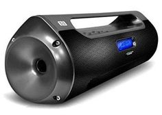 Street Vibe Bluetooth Portable Boom Box Speaker, Wireless NFC Pairing, USB Flash, Micro SD Readers and FM Radio : Players & Accessories Satellite Speakers, Wireless Speakers, Portable Speakers, Radios, Gadgets, Speaker System, Boombox, Card Reader, Gadget