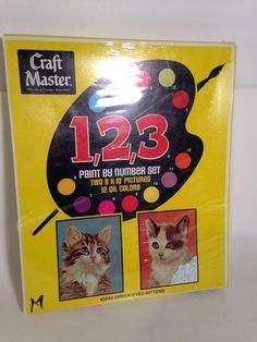 Craft Masters 123 Paint By Numbers 10244 Green Eyed Kittens Sealed Vintage 70's  | eBay