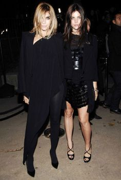 It Girl Julia with glamorous mum Carine Roitfeld at the opening party for 'Mobile Art: Chanel Contemporary Art container by Zaha Hadid' in October 2008.
