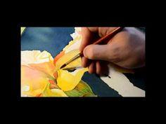 Watercolor by Krzysztof Espero Kowalski - Yellow iris