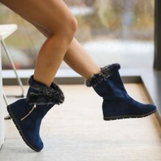 cizme-papito-bleumarin Booty, Ankle, Shoes, Fashion, Moda, Swag, Zapatos, Wall Plug, Shoes Outlet