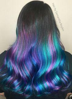 Aqua hair by Samantha Boykin