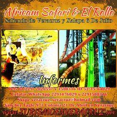 ¿No sabes un hacer en el inicio de #vacaciones ? Vamos a #africamsfari y #elrollo el 6 de #julio http://www.turismoenveracruz.mx/2013/05/africam-safari-y-el-rollo-te-esperan-este-6-de-julio/ saliendo de #Veracruz y #Xalapa