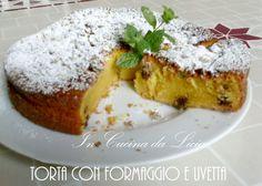 Torta con formaggio e uvetta http://blog.giallozafferano.it/incucinadalicia/torta-con-formaggio-e-uvetta/