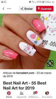 Manicure, Nails, Beauty, Places, Unicorn Nails, Nail Manicure, Hair, Nail Bar, Finger Nails
