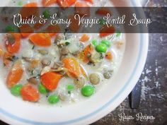 Quick & Easy Veggie Lentil Soup by Raia's Recipes