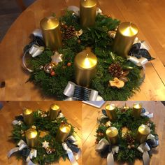 wreath advent, christmasdecorations, my work Advent, Wreaths, Table Decorations, Fun, Furniture, Home Decor, Homemade Home Decor, Door Wreaths, Home Furnishings