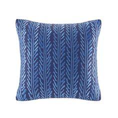 Santos Embroidery Cotton Throw Pillow