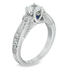 Vera Wang LOVE Collection 1 CT. T.W. Diamond Engagement Ring in 14K White Gold - Zales $3,499.99