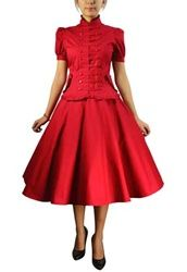 Plus Size Vintage Reproduction Dress: Military Vintage Inspired Dress;  Sale Price: $119.95