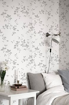Interior Wallpaper, Modern Wallpaper, Upstairs Bedroom, Bedroom Bed, Wall Design, Sweet Home, New Homes, Room Decor, Interior Design