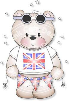 Patriotic Teddy - Digi Stamp