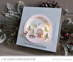 For the Love of Paper: lighted Christmas wall hanging; MFT Creative Challenge   magic of the season