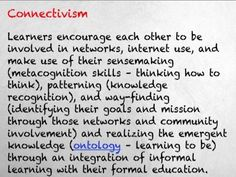 A brief compare and contrast between Instructivism, Constructivism, and Connectivism as well as the ideas behind pedagogy, androgogy, and heutogogy.