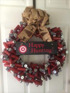 Happy Hunting Season! Shotgun shell wreath