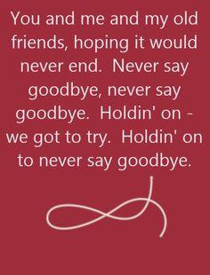 Bon Jovi - Never Say Goodbye - song lyrics, song quotes, songs, music lyrics, music quotes,