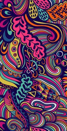 Movies Wallpaper, Cats Wallpaper, Trendy Wallpaper, Colorful Wallpaper, Wallpaper Backgrounds, Crazy Backgrounds, Wallpaper Ideas, Psychedelic Art, Psychedelic Pattern