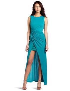 Bcbgmaxazria Women's Ariel Draped Long Stud Detail Gown