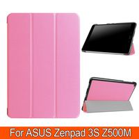 3 Folding PU Leather Book Cover Flatbed Shell Fundas Case For For Asus ZenPad 3S 10 Z500M 9.7 inch Tablet Stand With Magnet