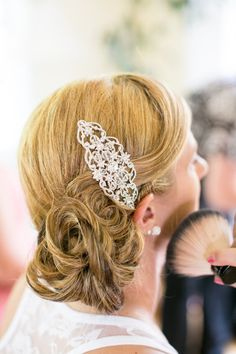 Our Favorite Hair Accessories Wedding Hair & Beauty Photos on WeddingWire Creative Hairstyles, Retro Hairstyles, Braided Hairstyles, Wedding Hairstyles, Bridal Hairstyle, Retro Wedding Hair, Wedding Hair And Makeup, Wedding Hair Accessories, Prom Makeup