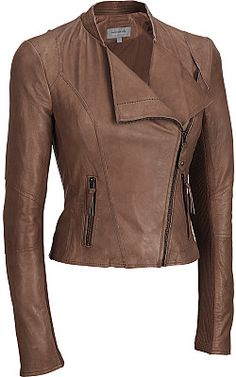 ★★★Marc New York Lamb Jacket w/ Knit Sleeve Inset - Wilsons Leather