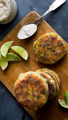 Bright, bold and richly flavored, these are not your typical fish cakes. That flavor is layered into every step: the fish is browned with some garlic, and both are mixed with mashed potatoes along with vibrant herbs, green chile and fragrant lime zest. (Photo: Photo by Andrew Scrivani for The New York Times)